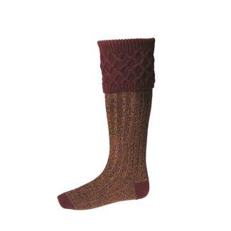 House of Cheviot Rannoch Moor Burgundy Socks