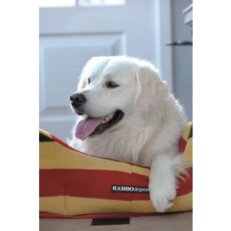 Horseware Rambo Dog Bed Whitney Stripe Gold