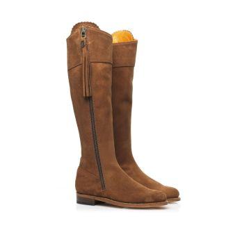 Fairfax & Favor Ladies Regina Suede Boot Tan