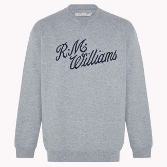 RM Williams Mens Script Crew Neck Jumper