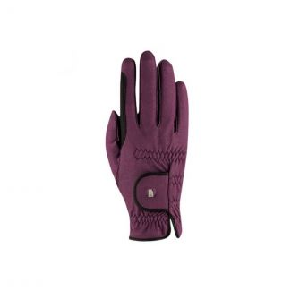Roeckl Lona Riding Gloves Grape Wine | Chelford Farm Supplies