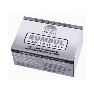 Agrimin Rumbul Magnesium Bullets for Cattle 10 Pack