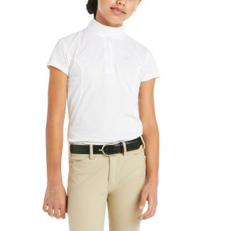 Ariat Girls Youth Aptos Short Sleeved Show Shirt
