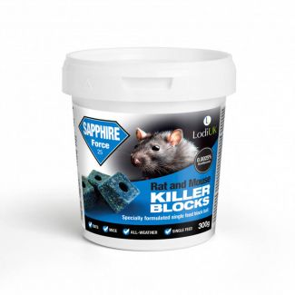 Lodi Sapphire Block Bait Rat and Mouse Killer Poison 300g