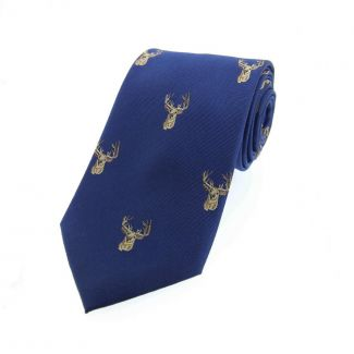 Sax Soprano Woven Silk Country Tie - Chelford Farm Supplies
