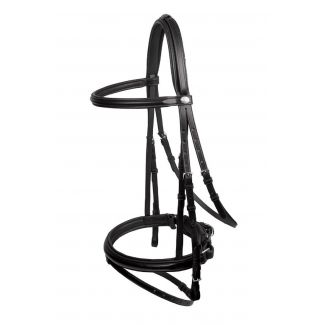 Schockemohle Stockholm-P Flash Bridle with Reins Black/Silver