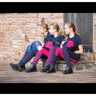 Shires Childrens Wessex Two Tone Jodhpurs - Chelford Farm Supplies