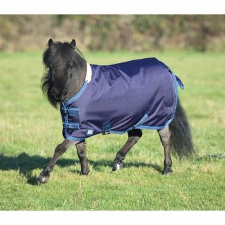 Shires Tempest Original 200g Mini Turnout Rug Navy/Turquoise - Chelford Farm Supplies