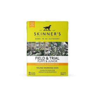 Skinners Field & Trial Puppy & Junior Chicken & Garden Veg Dog Food 390g | Chelford Farm Supplies