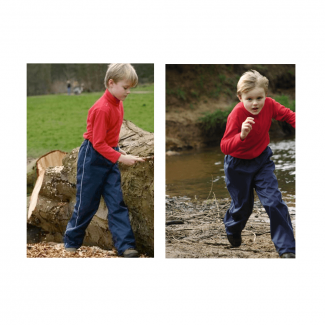 GD Textiles Splash Kids Hi-Viz Waterproof Trousers - Chelford Farm Supplies
