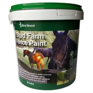 Bird Brand Stud Farm Fence Paint 10L Dark Brown