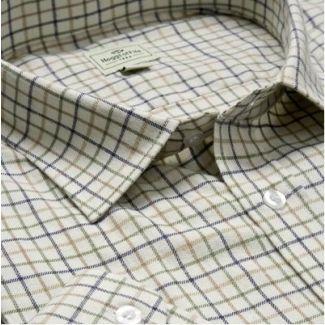 Hoggs of Fife Tatterstall Shirt Tan/Navy/Green