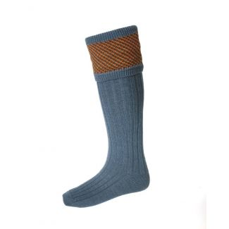 House of Cheviot Tayside Blue Mix Socks