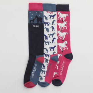 Toggi Ladies 3 Pack Atterby Socks - Chelford Farm Supplies