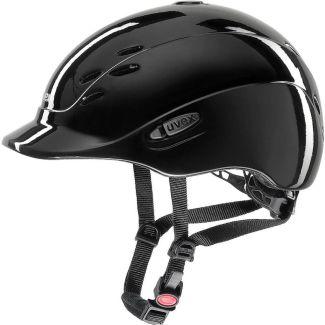 Uvex Onyxx Riding Helmet Black Shiny | Chelford Farm Supplies