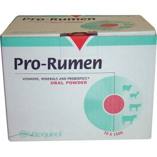 Vetoquinol Pro Rumen Oral Powder Sachets 1 x 150gm - Chelford Farm Supplies