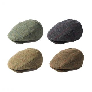 Failsworth Mens Waterproof Lovat Tweed Cap - Cheshire, UK
