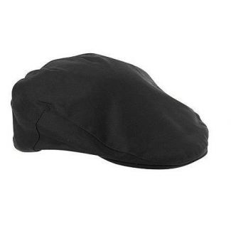 Failsworth Wax Flat Cap Black