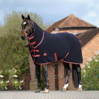 WeatherBeeta Combo Neck Fleece Cooler Horse Rug Navy/Red/White