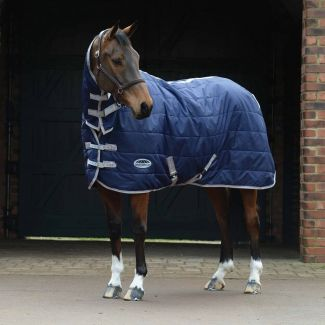 WeatherBeeta ComFiTec Channel Quilt Lite Combo Stable Rug 110g Navy