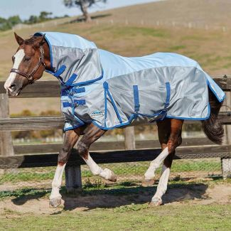 WeatherBeeta ComFiTec Mesh Combo Fly Rug Silver/Silver - Chelford Farm Supplies