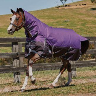 WeatherBeeta ComFiTec Plus Dynamic Lite Combo Turnout Rug 0g Purple - Chelford Farm Supplies