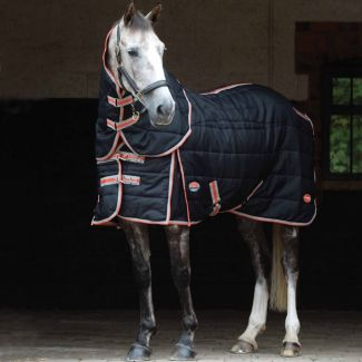 WeatherBeeta ComFiTec With Therapy-Tec Channel Quilt Medium Stable Rug 220g Black/Silver/Red   Chelford Farm Supplies
