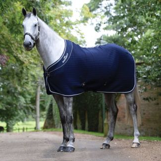 WeatherBeeta ThermoCell Waffle Cooler Rug Navy/White | Chelford Farm Supplies