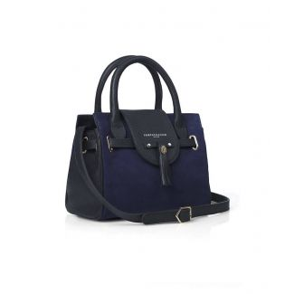 Fairfax & Favor Ladies Mini Windsor Handbag Suede Navy
