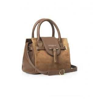 Fairfax & Favor Ladies Mini Windsor Handbag Suede Tan