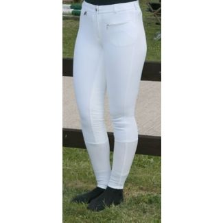 Jeffries Ladies Competition Breeches White